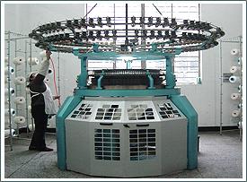 Circular electronic seamlesswear knitting machines by Santoni.